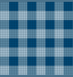 Indigo blue tartan seamless background vector