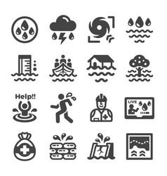 Inundation icon vector