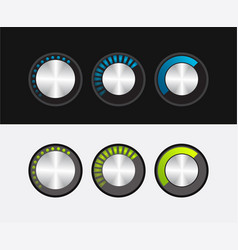 knob to adjust the volume in a metal style vector image