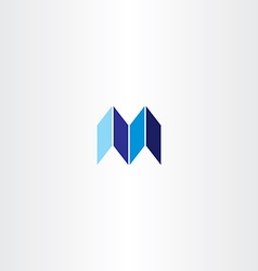 letter m logotype logo m blue icon sign vector image