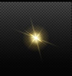 light lens flare effect bright golden vector image