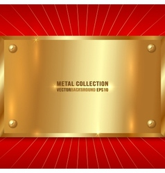 Metallic Golden Plate vector image