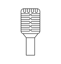 Microphone retro device icon vector