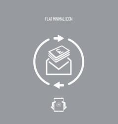 Money send icon - sterling vector