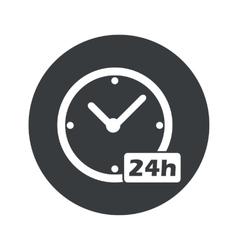 Monochrome round 24h workhours icon vector