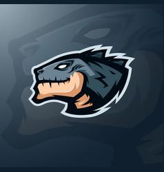 monster head logo gaming mascot esports vector image