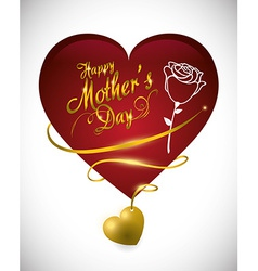 Mothers day card design vector image