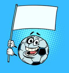 National flag form template football soccer ball vector