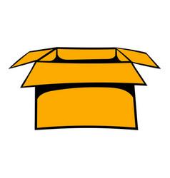 open empty cardboard icon icon cartoon vector image