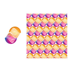 pattern of abstract symbol isolated vector image