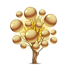 Pearl tree for your design vector image