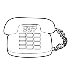 Phone icon outline style vector