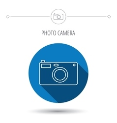 Photo camera icon Photographer equipment sign vector image