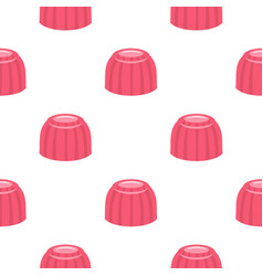 Pink fruit jelly pattern seamless vector