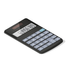 Pocket calculator detailed isometric icon vector image