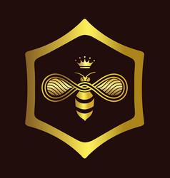 Queen bee logo vector