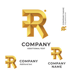 R letter modern logo identity brand icon business vector