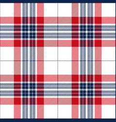 red and blue tartan plaid seamless pattern vector image