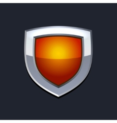 Red Protect Shield Icon vector image