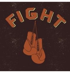 Retro label for boxing vector