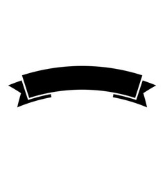 Ribbon banner advertising banner icon black color vector