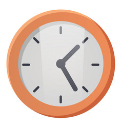 round shaped wall clock device to indicate time vector image
