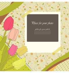 Scrapbooking album vector image
