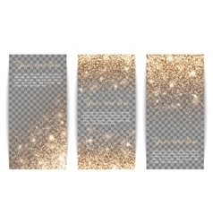 Set of vertical banners transparent background vector