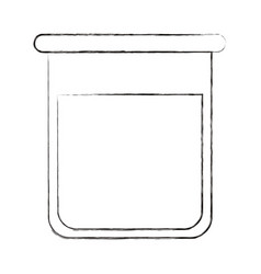 Sketch blurred silhouette image glass bottle for vector