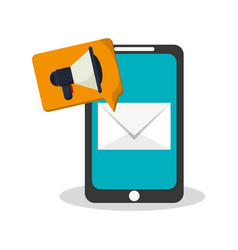 smartphone device design vector image