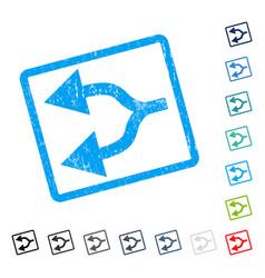 Split arrows left icon rubber watermark vector