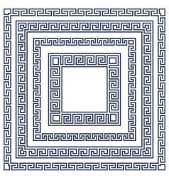 Square frame with greek ornament meander style vector