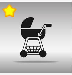 Stroller black icon button logo symbol concept vector