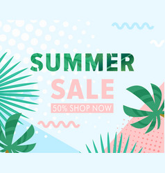 summer sale cartoon flat vector image