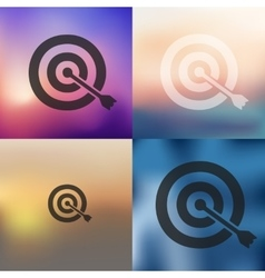 Target icon on blurred background vector