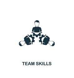 team skills icon premium style design from vector image