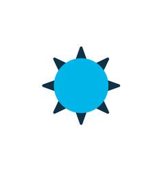 the sun icon colored symbol premium quality vector image