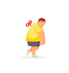 tired fat manweak health mental exhausted vector image