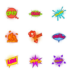 trendy sticker for messenger icons set vector image
