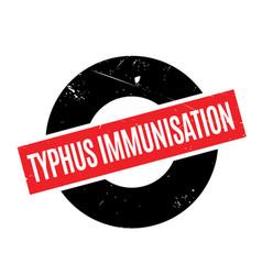 Typhus immunisation rubber stamp vector