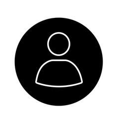 User account circle glyph icon vector