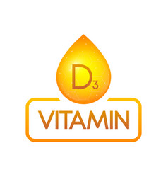 Vitamin d3 drop banner isolated on white vector