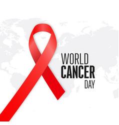 world cancer day design with elegent background vector image