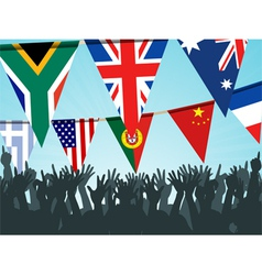 world flag bunting vector image