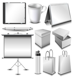 Blank corporate identity object set vector image vector image