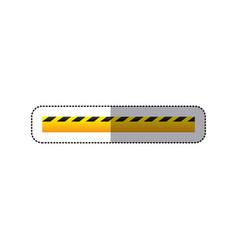sticker striped hazard tape line construction vector image