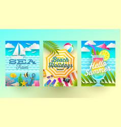 summer holidays and tropical vacation vector image