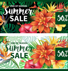 summer sale design vector image vector image