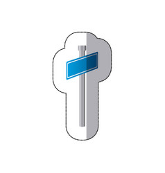 blue metal sign post icon vector image