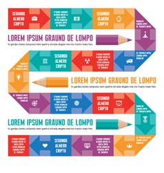 Infographic Concept - Line with Icons vector image